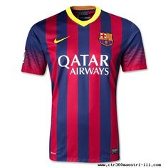 Midnight Navy/Storm Red/Tour Yellow Nike FC Barcelona 13/14 Home Soccer Jersey