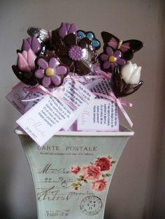 flores y mariposas de chocolates de Palermo dulce souvenires gourmet