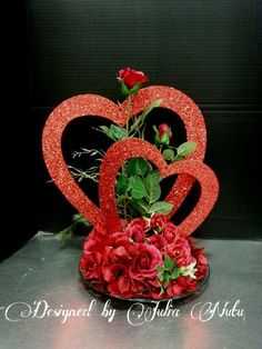 Valentine's floral design by Julia Nutu at Michaels Store Cambridge ON