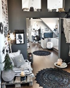 + 25 Small Apartment Deco Boheme 63 – # bohemian - Decoration For Home Interior Design Living Room, Living Room Designs, Living Room Decor, Bedroom Decor, Vintage Industrial Decor, Industrial Living, Vintage Bohemian, Deco Boheme, Small Apartments