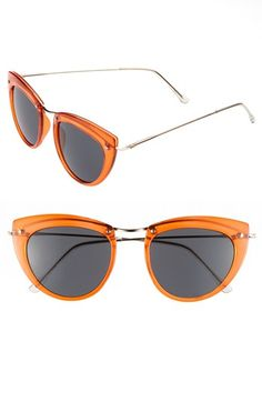 Spitfire 49mm Retro Sunglasses available at #Nordstrom.  Just got these in black and I'm loving them!