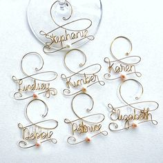 6 Personalized Wine Charms - Will you be my Bridesmaid Wine Glass ...