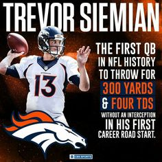 Siemian made NFL history 9/25/16