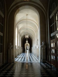 One of the key elements of design, repetition…    Versailles Hallway by scot2342 on Flickr.