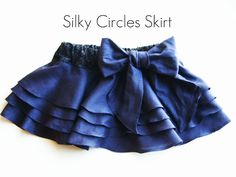 Layered circle skirt tutorial....perfect for the red satin material I bought.