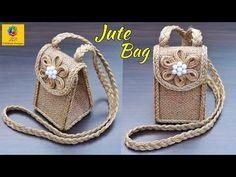 Sisal, Diy Jute Bags, Jute Flowers, Ladies Purse, Burlap Crafts, Baby Sandals, Cardboard Crafts, Bag Making, Purses And Handbags