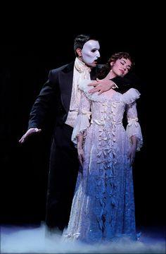 Ramin Karimloo and Kaley Ann Voorhees in Phantom of the Opera Photo by Ryoji Fukuoka