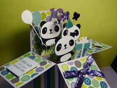 Card in a box Pandamonium The Scrappin Rabbit