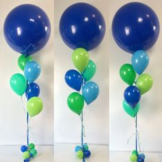 Complementary colour scheme with Standard Dark Blue 3ft - blues and greens from the Qualatex Fashion range