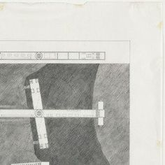 Steven Holl. Gymnasium Bridge, project, New York City, New York, Plan, site plan, and exterior perspective. 1977 | MoMA