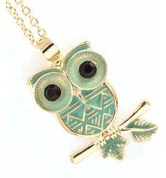Big Eyed Bird Necklace