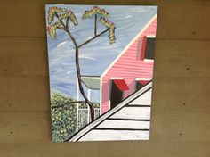KEY WEST roof tops original painting on by Paintingsfromkeywest, $60.00