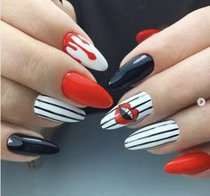 Give fashion to your nails by using nail art designs. Donned by fashion-forward stars, these types of nail designs will incorporate immediate style to your apparel. Super Cute Nails, Pretty Nails, Stiletto Nails, Toe Nails, Fail Nails, Valentine Nail Art, The Rocky Horror Picture Show, Wedding Nails Design, Heart Nails