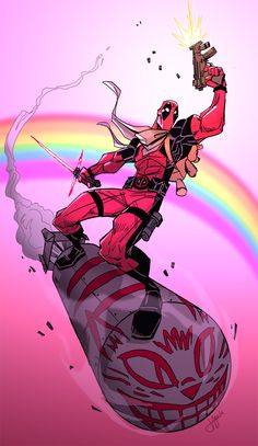 Deadpool/Wade) By: Jeffagala. Comic Movies, Comic Book Characters, Marvel Characters, Comic Books Art, Comic Art, Deadpool Und Spiderman, Deadpool Art, Deadpool Funny, Hq Marvel