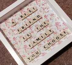Best friend quote frame scrabble art wall decor by Waystosay