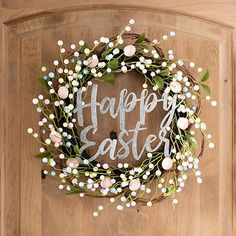 hoppy easter Add a pop of pastel to your door with our Floral and Metal Happy Easter Wreath. The galvanized metal lettering brings a touch of farmhouse flair to this piece of Easter decor Easter Crafts For Toddlers, Easter Activities, Diy Ostern, Easter 2020, Diy Wreath, Easter Wreaths Diy, Diy Easter Decorations, Spring Wreaths, Wreath Ideas