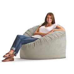 Wide-Wale Corduroy Bean Bag Lounger - The Original FUF Chair 3 ft. Wide-Wale Corduroy Bean Bag Lounger is stuffed full of Fuf memory foam that envelops you in comfort. Its durable corduroy. Extra Large Bean Bag, Large Bean Bags, Bean Bag Lounger, Bean Bag Sofa, Girls Desk Chair, Barber Chair For Sale, Bean Bag Furniture, Large Bean Bag Chairs, Lounges