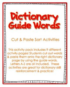 73 Best Dictionary Skills Images On Pinterest Vocabulary