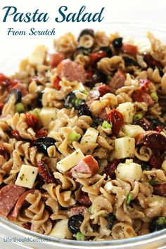 Pasta Salad From Scratch. It is much easier than you would think! {lifeshouldcostless.com}