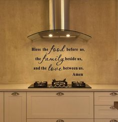 Items similar to Kitchen Decals – Bless The Food Before Us Wall Decal – Kitchen Vinyl Decal – Bless Our Family Decal – Kitchen Quotes – Vinyl Quote – Decals on Etsy - wallquotes Kitchen Wall Decals, Kitchen Vinyl, Kitchen Redo, Diy Kitchen Decor, Diy Kitchen Ideas, Chicken Kitchen Decor, Kitchen Cabinets, Kitchen Decorations, Kitchen Themes
