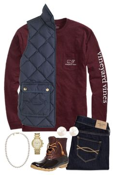 """He heard you. Just be patient."" by hannaclairee ❤ liked on Polyvore featuring Vineyard Vines, J.Crew, Mikimoto, Michael Kors, Abercrombie & Fitch, Anne Sisteron and Sperry"