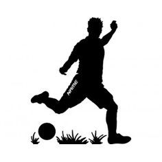 Muurtattoo Eigen tekst voetbal
