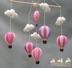 Baby Mobile for a Hot Air Balloon Themed Nursery