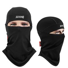 68eb2c181e8 Balaclava Aegend Windproof Ski Face Mask Winter Motorcycle Neck Warmer  Tactical Balaclava Hood Polyester Fleece for