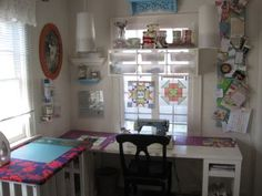 Cute space and quite a few thrifty ideas!