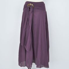 can't get enough of this skirt! Perfect for hot summer days, but easy enough to layer up for the cool fall days! Long Pixie Skirt With Sarong Buckle $36