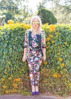 Get suited up for Spring in floral print. full post on the blog at http://www.chanichiban.com/2013/08/too-much-is-never-enough.html