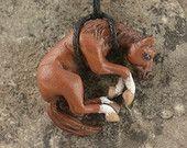 Resin Chestnut Horse Necklace