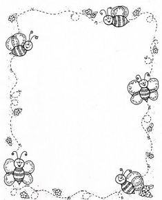 Borders DJ Inkers_Carson y negro - Laura Zamora - Picasa Web Albums Borders For Paper, Borders And Frames, Colouring Pages, Coloring Books, Portfolio Kindergarten, Dj Inkers, Carson Dellosa, School Frame, Page Borders