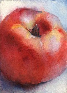 Watercolor fruit painting original ACEO art by OlgaSternyk