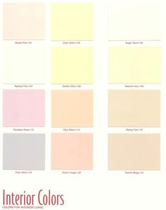 pastel paint colorsFind your paint colors fast and easy with House Paint Colors