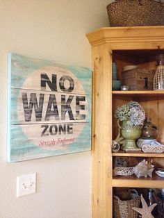 No wake zone great piece of art for a lake house by kspeddler