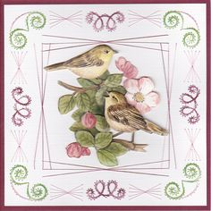 Voorjaar Embroidery Cards, String Art, Paper Art, Stitching, Inspiration, Cards, Templates, Patterns, Costura