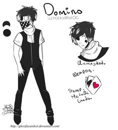 Information ♠ Proxy Name: Domino.♠ Real Name & Last Name: Domino ? Creepypasta Oc, Creepypasta Characters, The Nobodies, Creepy Pasta Family, Freddy S, Weird Facts, Anime Style, The Darkest, Horror