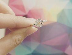 Sterling Silver Flower Ring Silver Sakura by LilyTreeAccessories