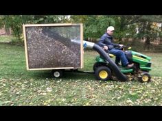Build a Leaves Collector for your lawn tractor and save hours of work either picking leaves up or trying to mulch them into your lawn to get rid of them. Lawn Vacuum, Garden Tractor Attachments, Yard Tractors, Small Front Yards, Tractor Accessories, Tractor Implements, Farm Tools, Riding Lawn Mowers, Self Watering Planter