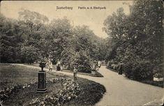 Insterburg Ostpreußen, Partie aus dem Stadtpark. stempel postkarte 19.08.1916