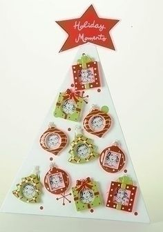 $109.99-$129.99 Club Pack of 15 Magnetic Message Ornaments/Christmas Photo Frames & Display Tree - From the Sweet Memories Collection Item #36051  Celebrate your past and present holiday memories with these adorable magnetic photo frame ornaments shaped as either gifts, ornaments or trees Includes display tree stand Fully-dimensional ornaments Each magnetic ornament comes ready-to-hang on a whit ...