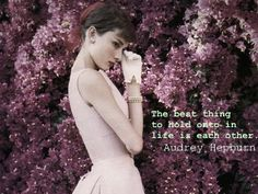 Audrey Hepburn Inspirational Quotes | Here is a collection of quotable quotes from some of the best actors ...