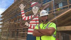 A thoughtful construction worker named Jason Haney thought it would be nice to do something to cheer up the children in the hospital next door. His idea was absolutely brilliant.