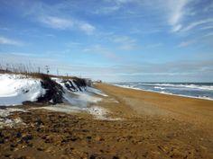 Snow on the beach in Kitty Hawk, North Carolina :: January 30, 2014 :: #SnOBX