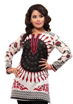 Indian Tunic Top Womens / Kurti Printed Blouse tops - AZDKJD-61D Arras Creations http://www.amazon.com/dp/B00HBFLBF0/ref=cm_sw_r_pi_dp_twxQub0SXE21Z