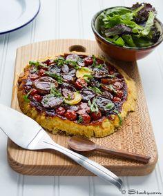 """Root Vegetable Tarte Tartin ~ via this blog """"Stasty""""."""