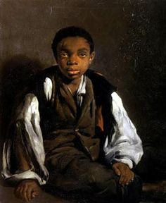 Black Slaves | painting of a black slave child, described below