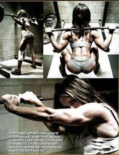 Squats my favorite exercise...Pauline Nordin's program The Butt Bible...requires amazing dedication :)