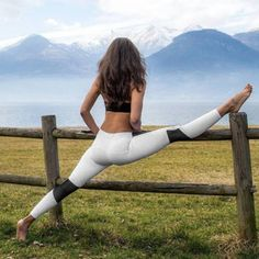 Hot Fitness Legging For Female Women Yoga Pants High Waist Letter Print Clothing Slim Trouser Tights Workout Sport Bodybuilding Weight Lifting, Weight Loss Tips, Workout Pictures, Fitness Pictures, Yoga Leggings, Yoga Pants, Mesh Leggings, Sports Leggings, Workout Videos